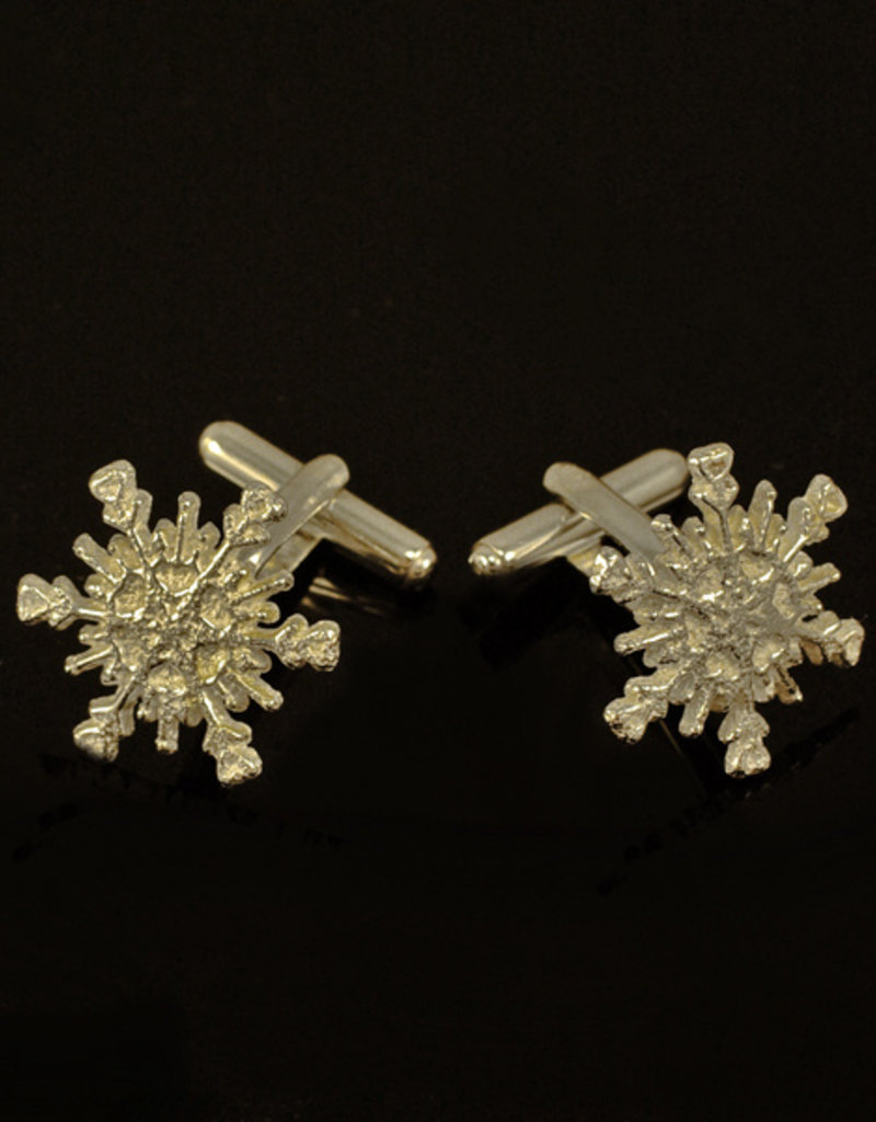 Rebels & Icons Cuff links snow flake - silver