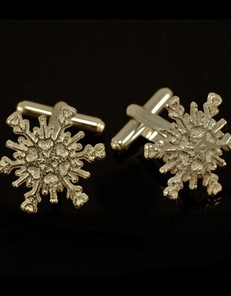 Rebels & Icons Manchetknopen sneeuwster - zilver