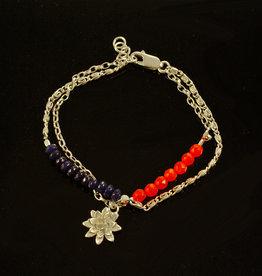 Rebels & Icons Armband bloem & jade
