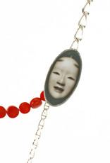Rebels & Icons Samengestelde ketting Japans nohmasker