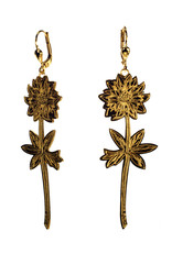 Rebels & Icons Earrings engraved flower