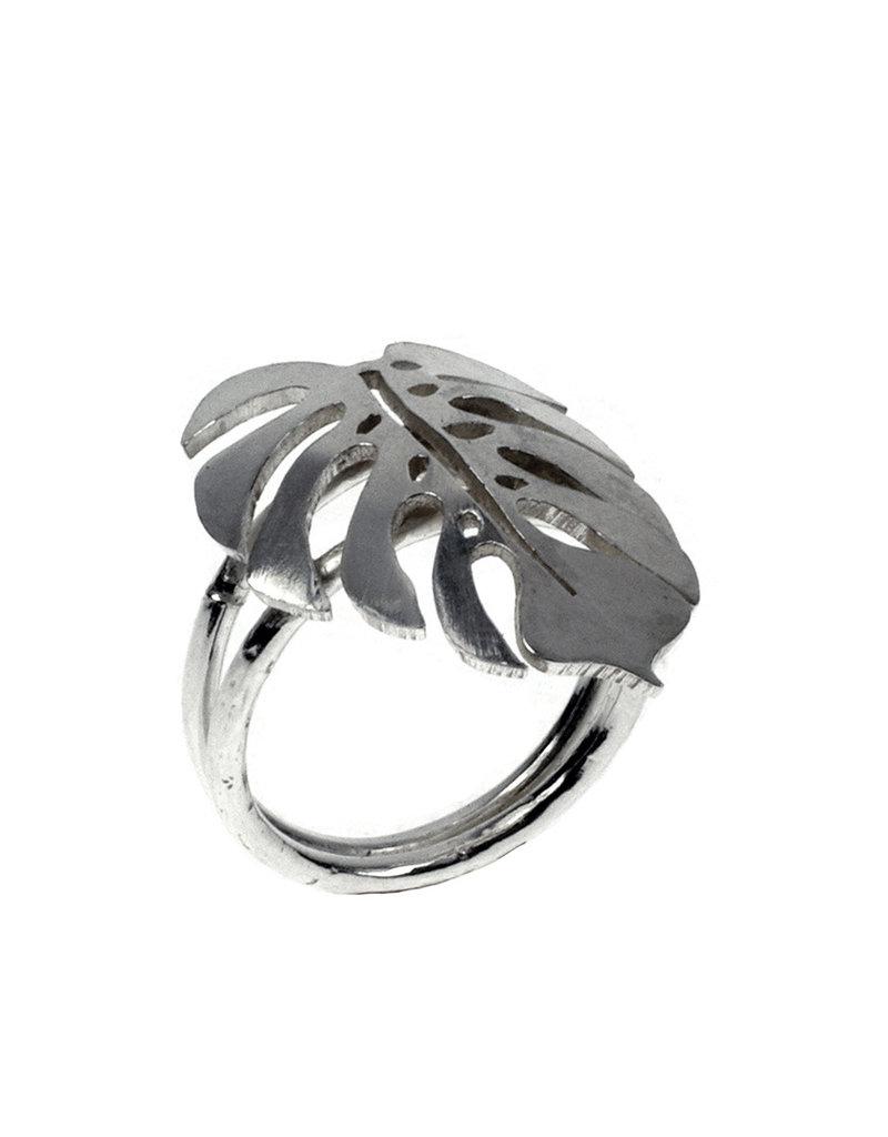 Rebels & Icons Ring Monstera leaf
