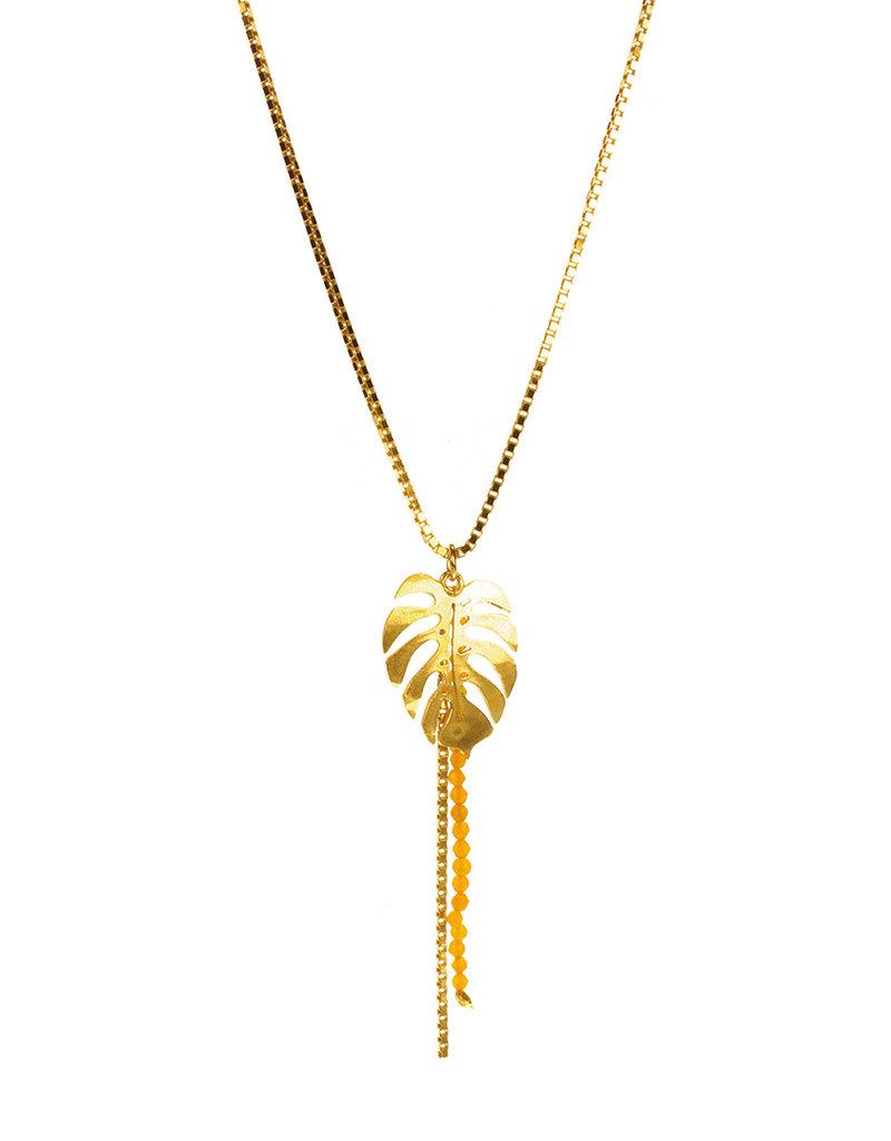 Rebels & Icons Necklace Monstera leaf