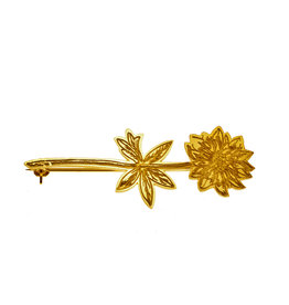 Rebels & Icons Brooch engraved flower