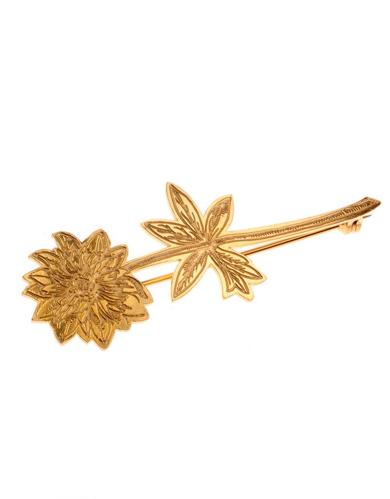 Rebels & Icons Brooch engraved flower