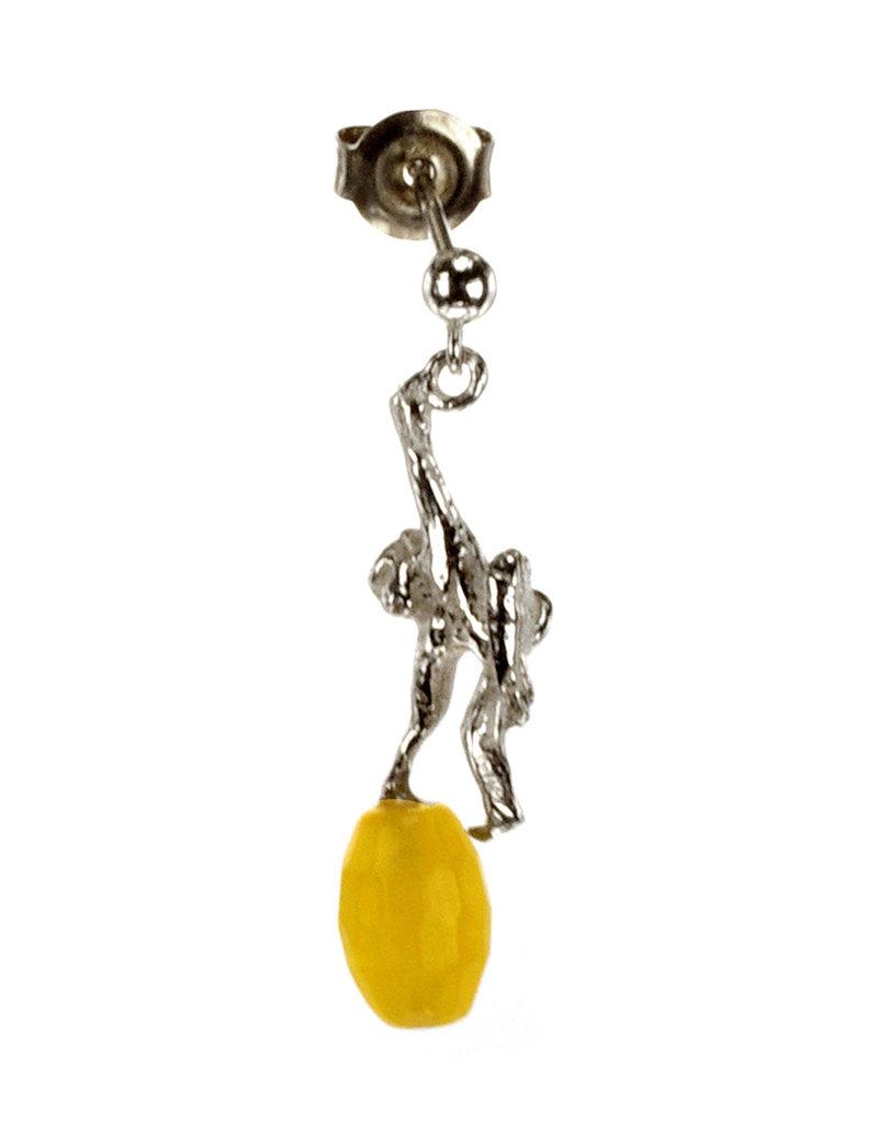 Rebels & Icons Post earrings pendant palmtree & monkey
