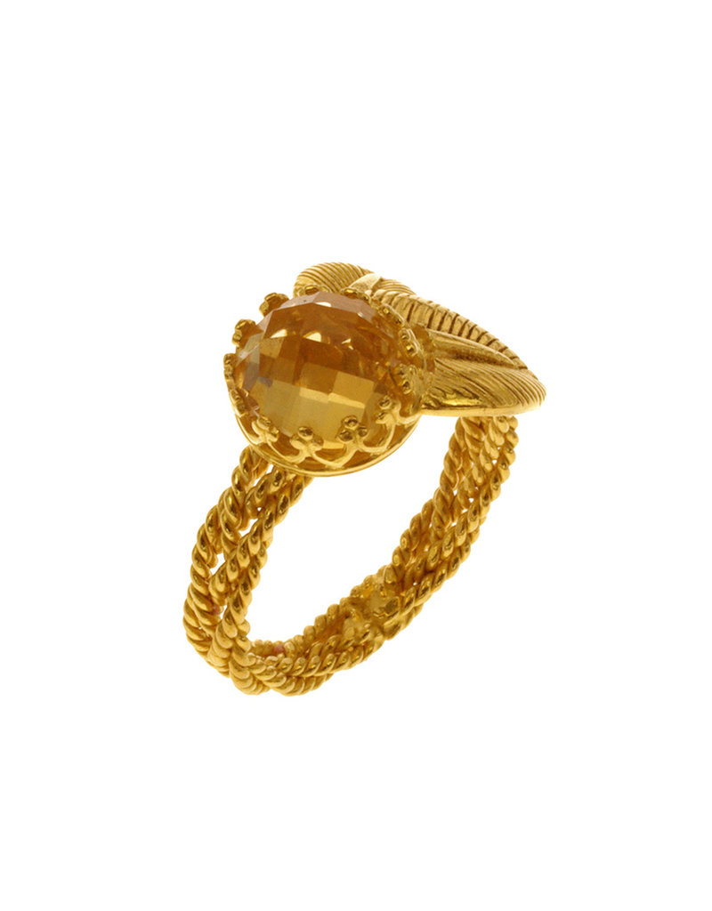 Rebels & Icons Ring 2 leafs & citrine