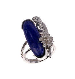 Rebels & Icons Ring papegaai & lapis lazuli