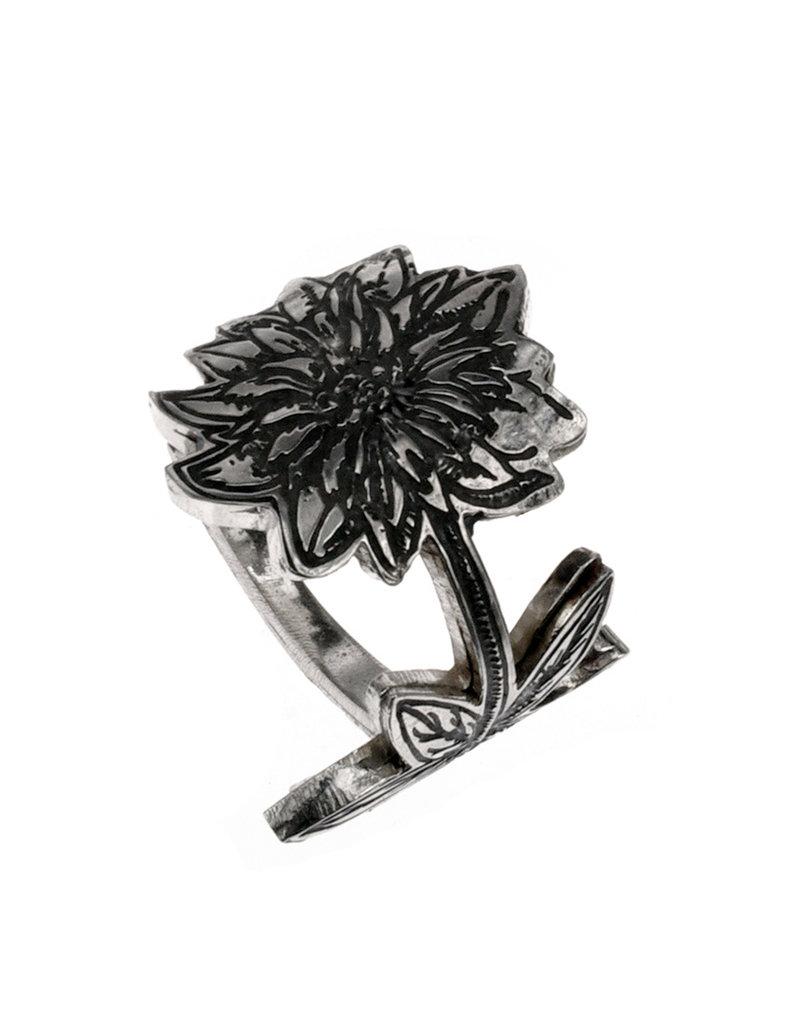 Rebels & Icons Ring gegraveerde bloem