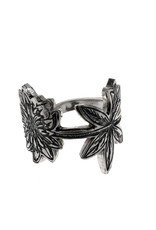 Rebels & Icons  Ring engraved flower