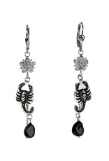 Rebels & Icons Earrings flower, scorpion & spinel