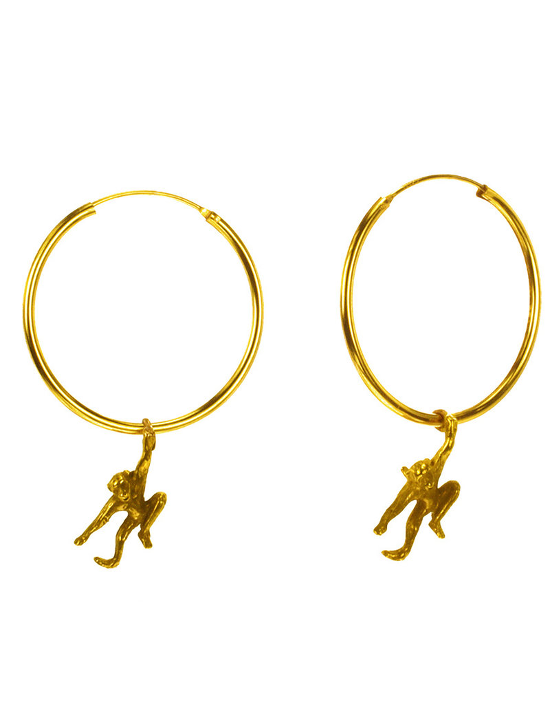 Rebels & Icons Hoop earrings dangling monkey
