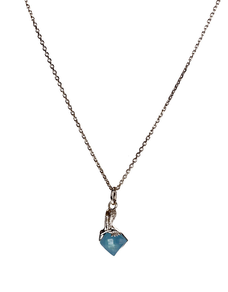 Rebels & Icons Necklace hummingbird & chalcedony