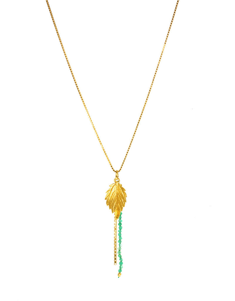 Rebels & Icons Necklace serrated leaf