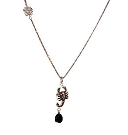 Rebels & Icons Necklace flower, scorpion & spinel