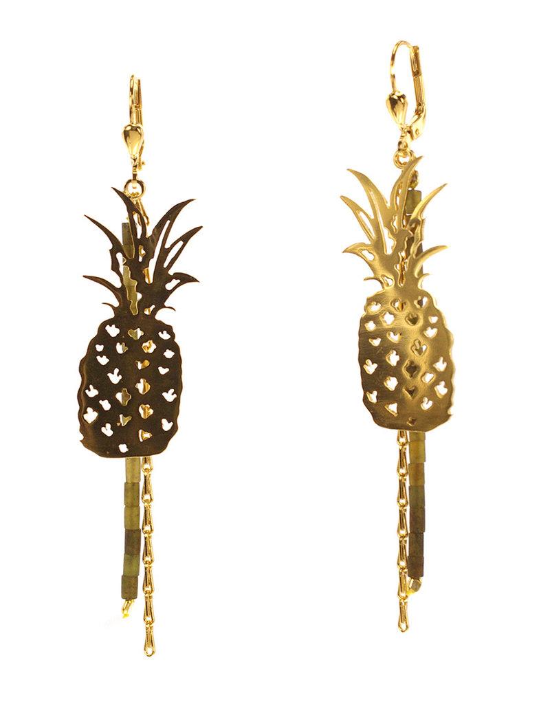Rebels & Icons Oorbellen ananas