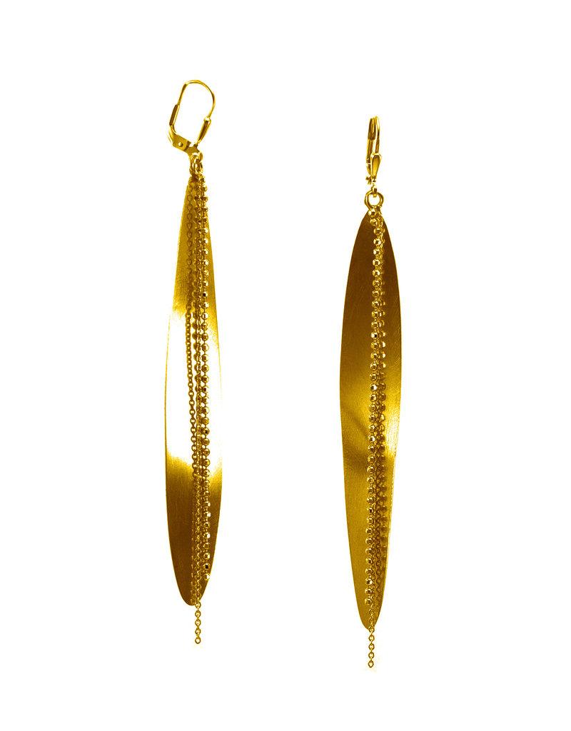 Rebels & Icons Earrings long leaf