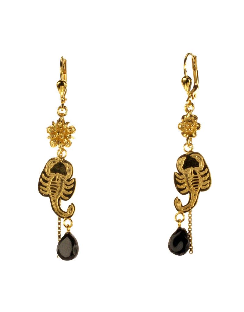 Rebels & Icons Earrings flower, scorpion & spinel