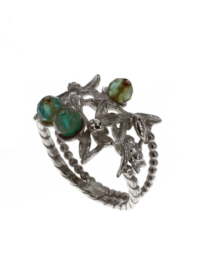 Rebels & Icons Ring flowers & agate