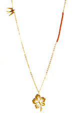 Rebels & Icons Necklace swallow & hibiscus