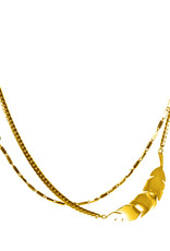 Rebels & Icons Double necklace banana leaf