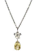 Rebels & Icons Necklace touan, flower & green amethyst