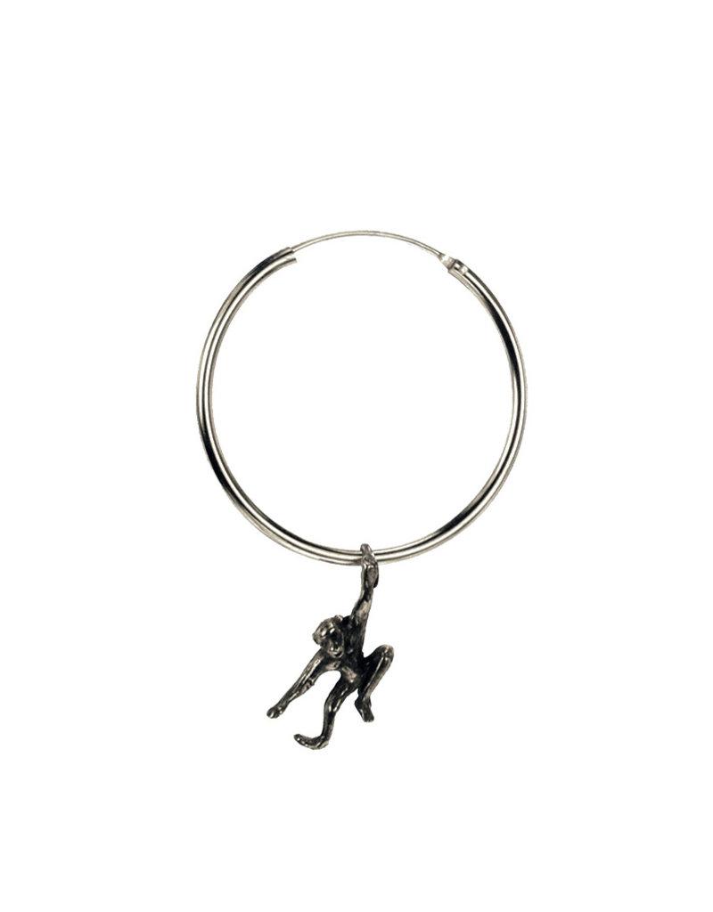 Rebels & Icons Hoop earrings dangling monkey