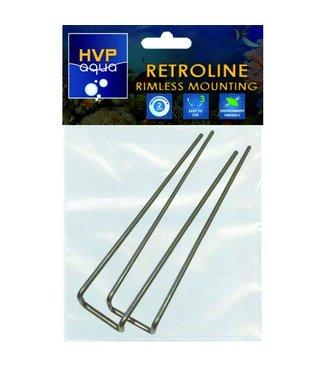 HVP aqua Rimless mounting brackets for RetroLINE