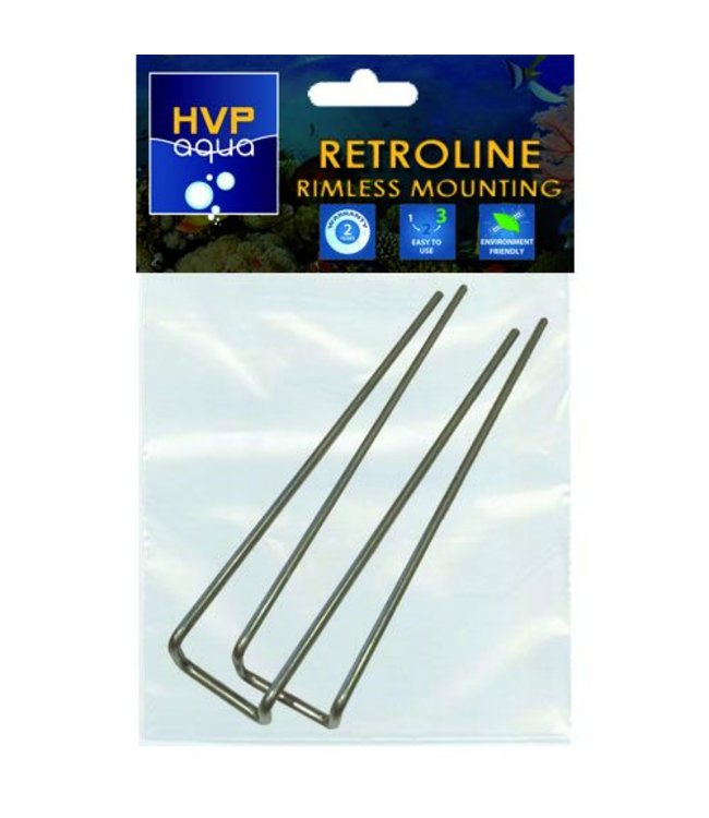HVP aqua Rimless mounting brackets for RetroLINE