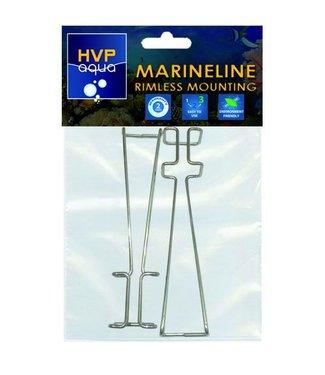 HVP aqua Rimless montage beugels tbv MarineLINE