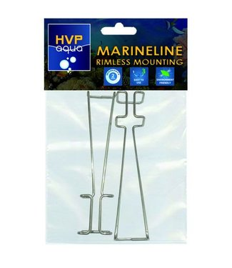 HVP aqua Rimless mounting brackets for MarineLINE