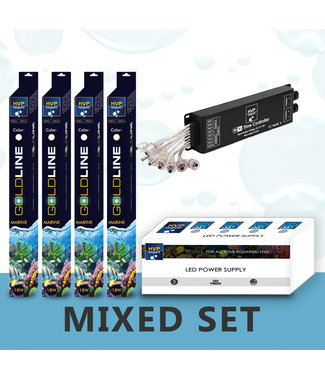 HVP aqua 120CM aquarium  Mixed reef LED set