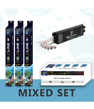 HVP aqua 80CM aquarium  Mixed reef LED set