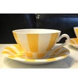 Vintage California kop en schotel gestreept
