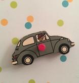 Magneet van retro puzzelstukje