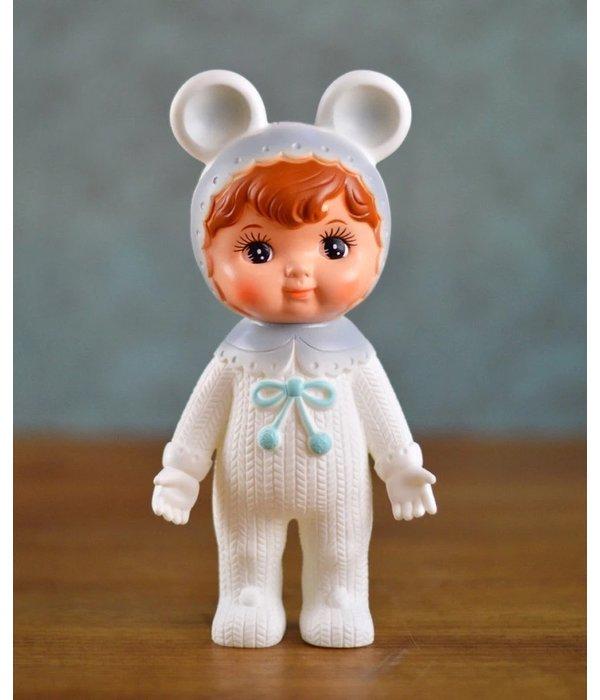 Woodland Doll (wit/grijs met oortjes)