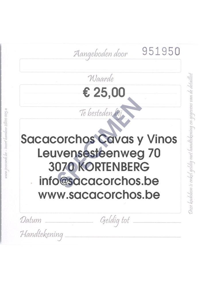 Cadeaubon / Chèque-cadeau €25