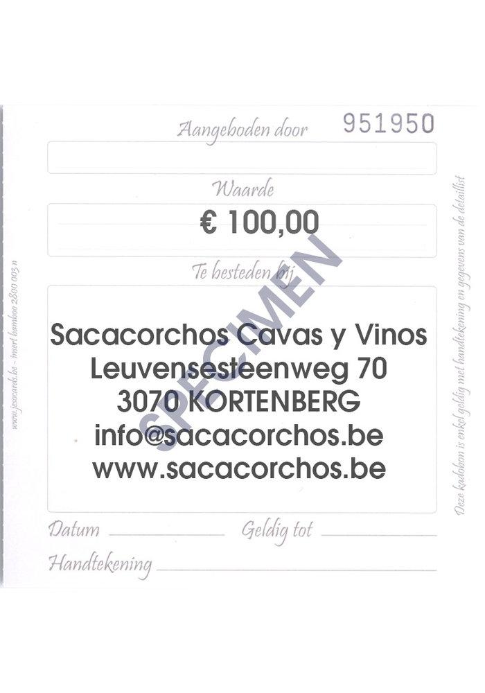 Cadeaubon / Chèque-cadeau €100