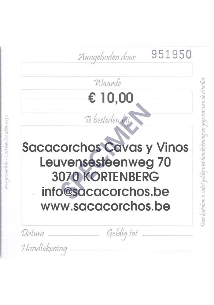 Cadeaubon / Chèque-cadeau €10