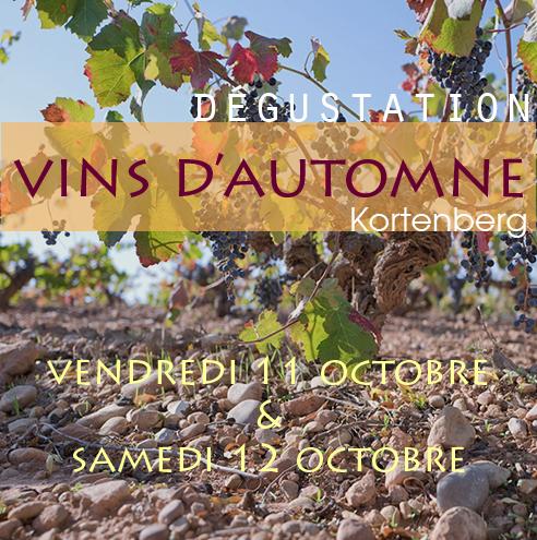 Dégustation d'automne à Kortenberg le 11 et le 12 octobre 2019