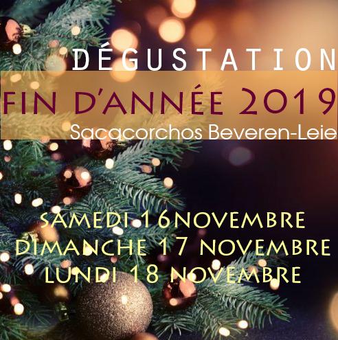 Dégustation de fin d'année à Beveren-Leie -  2019