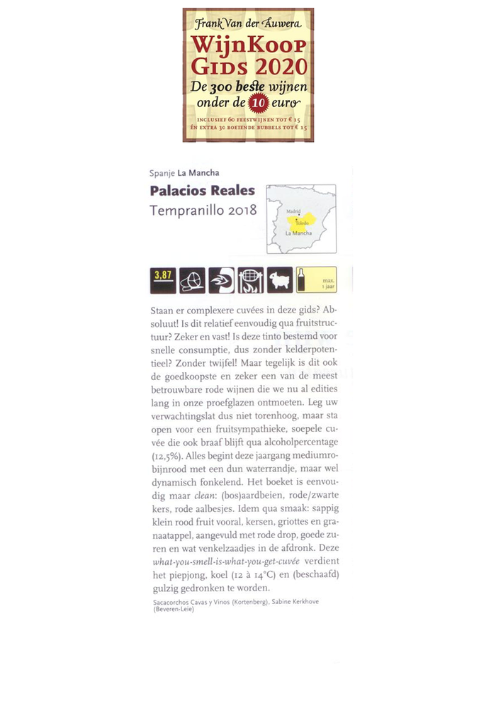 Palacios Reales Tempranillo 2018