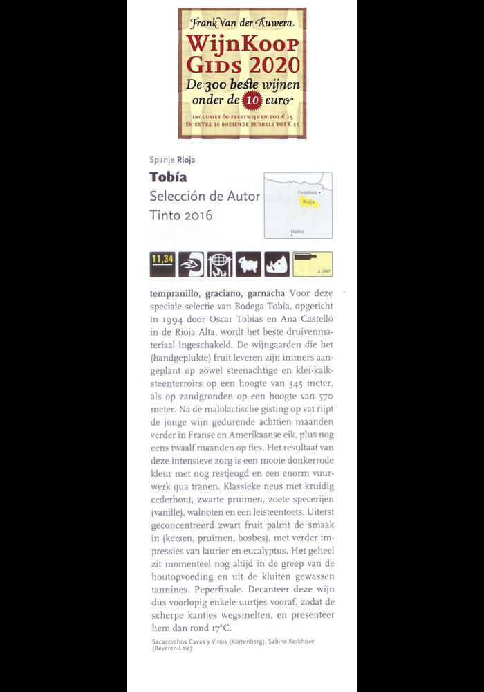 Tobia Tinto Seleccion de Autor 2016