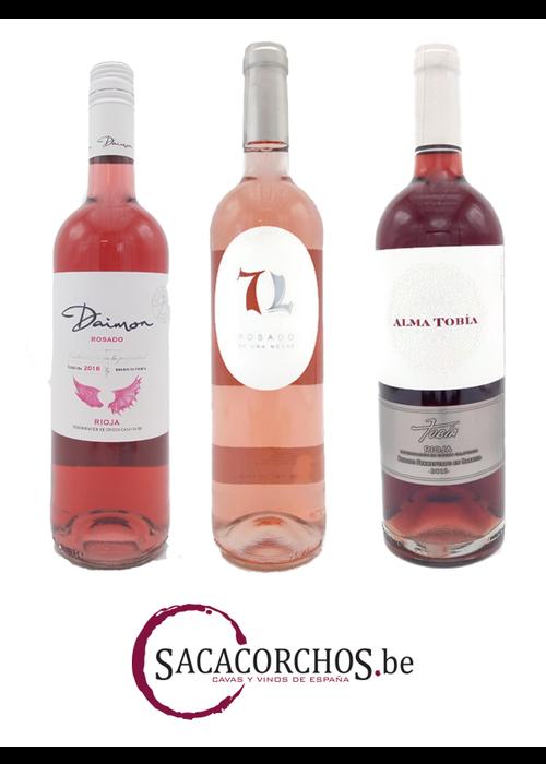 """Divers Ontdekkingspakket (12 flessen). Serie """"Rosé wijnen"""""""