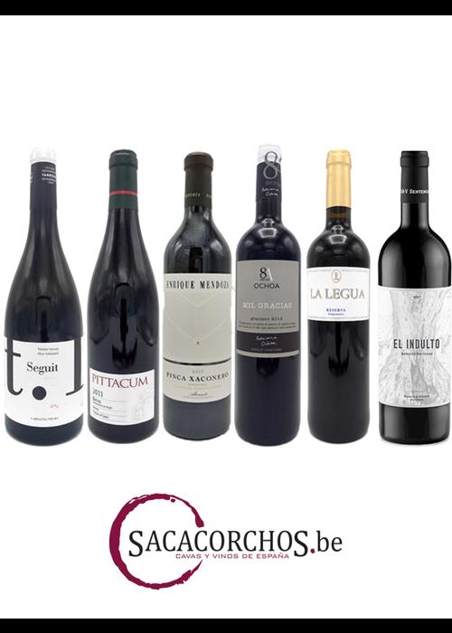 """Divers Ontdekkingspakket (12 flessen). Serie """"Rode wijnen - Spaanse druivenrassen"""""""