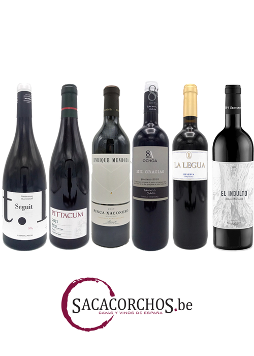"""Divers Ontdekkingspakket . Serie """"Rode wijnen - Spaanse druivenrassen"""""""