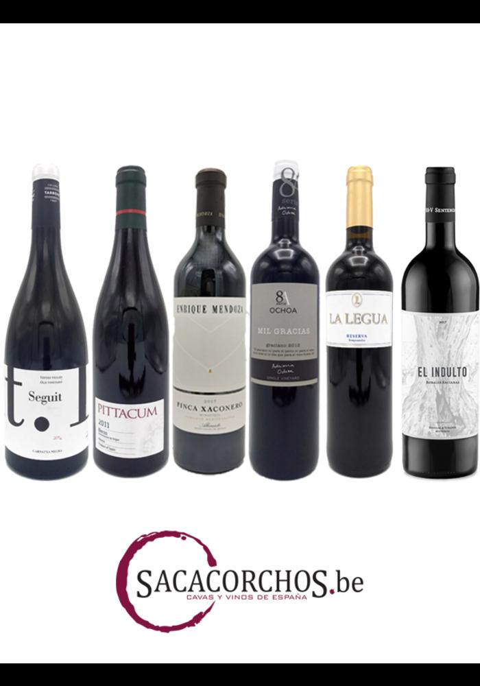 """Ontdekkingspakket . Serie """"Rode wijnen - Spaanse druivenrassen"""""""