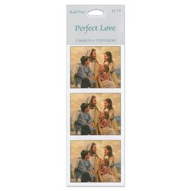 Christ's perfect love stickers