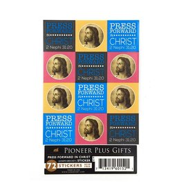 Press forward in Christ stickers