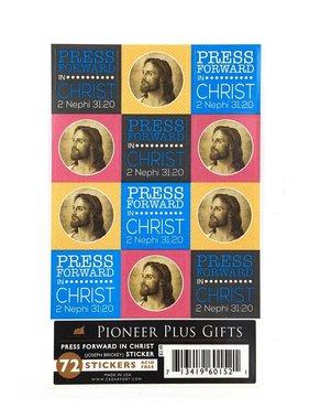Press forward in Christ stickers